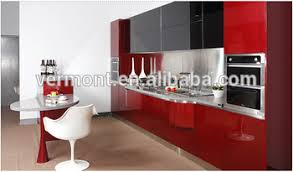 Kitchen Wall Cabinets With Glass Doors Red Kitchen Cabinets Glass Doors High Gloss Lacquer Kitchen