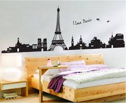 Skyline Wallpaper Bedroom Buy I Love Paris Skyline Silhouette At The Wall Art Guys For Only