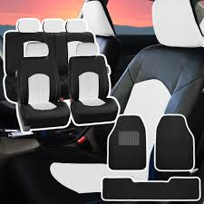 used lexus for sale ebay pu leather car seat covers for auto black white 5 headrests black