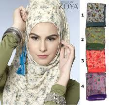Grosir Gamis Zoya Murah zoya kerudung tea flower jual jilbab zoya murah jual jilbab