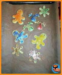 baked play dough ornaments glittering muffins
