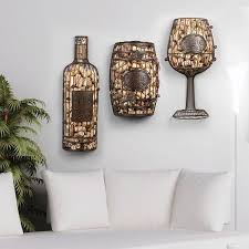 metal wine bottle wall decor cork cage