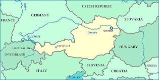 map of germany showing rivers austria map map of austria showing cities rivers and the bodensee