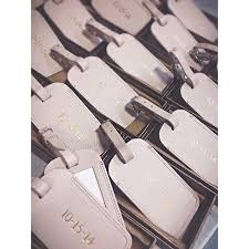 luggage tags wedding favors monogrammed leather luggage tags save the dates for