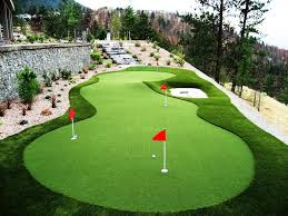 poolside putting green northeast synthetic turf company image on