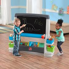step2 jumbo art easel extra large whiteboard and chalkboard allow