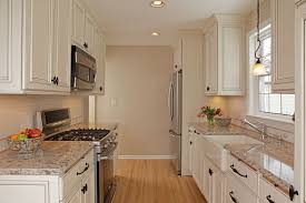Small Kitchen With White Cabinets Kitchen Countertops Whit Appliances Of Stainless Steel