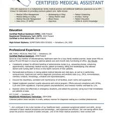 resume examples medical assistant resume template free format