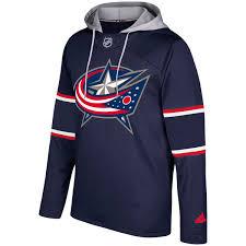 men u0027s columbus blue jackets adidas navy silver jersey pullover