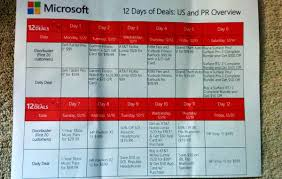 microsoft kicks off its christmas 12 days of deals upcoming daily