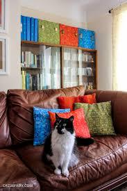 Retro Livingroom Custom Printed Retro Fabric U0026 Diy Envelope Cushion Covers