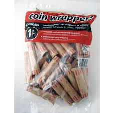 72 preformed penny tubes paper coin wrapper 1 cent pennies shotgun