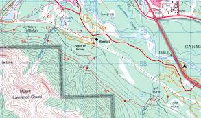 Canmore Canada Map by Mount Lawrence Grassi Via The Canmore Wall Clubtread Community