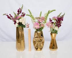 Gold Centerpiece Vases Table Top Decor U2013 Vintage Meets Modern