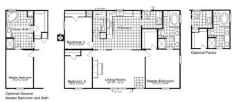 the heritage home ii sa303443e manufactured home floor plan or