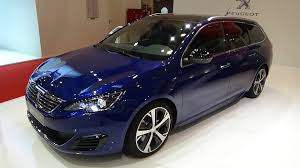 peugeot 308 interior 2016 peugeot 308 sw gt blue hdi 180 exterior and interior