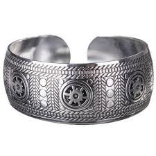 cuff metal bracelet images Vintage carved metal tibetan silver cuff bracelet bangle for women jpg