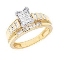 cinderella engagement ring 10k yellow gold real diamond princess cinderella engagement ring 1