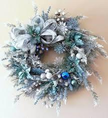 wreath ideas 40 fresh blue christmas decorating ideas family net