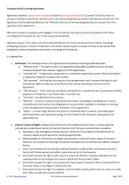 non exclusive licensing contract template