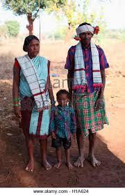 dhurwa tribal family stock photos dhurwa tribal family stock
