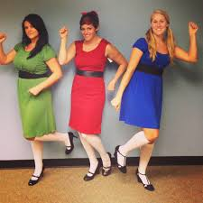 powerpuff girls inspired costumes from goodwill of grand rapids