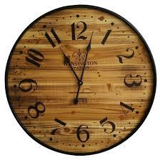 themed clock wood 26 wall clock pine finish black threshold target