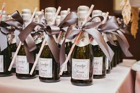wine wedding favors themed wedding at casablanca winery inn chagne wedding