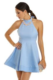 light blue dress light blue bow back skater dress clothes and fashion