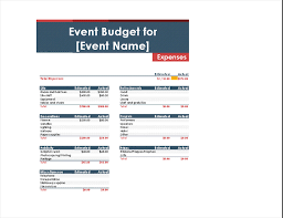 contoh format budget excel event budget office templates