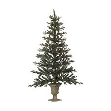 5 pre lit flat wall tree in urn stand