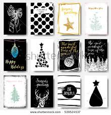 black christmas cards modern classic creative christmas cards black stock vector 539524537
