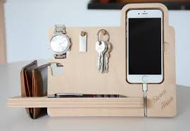 witching wood iphone docking station charging dock minimalist desk