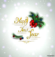 festive christmas tree vector border happy new year card
