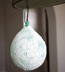 How To Make A Balloon Chandelier Lace Doily Ball Lamp