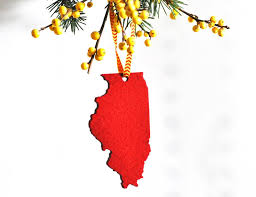 illinois shaped ornament aheirloom