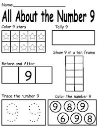 9 touch math number posters and morning work worksheets all about