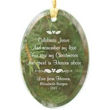 personalized in heaven glass ornament kimball