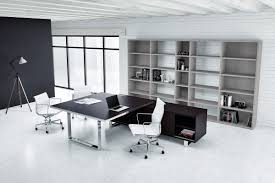 Modern Desk Black Executive Chrome Modern Desk Ambience Doré