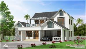 awesome modern villa exterior elevation kerala home design and