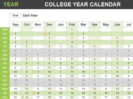 college year calendar office templates