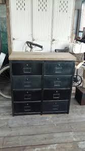 meuble de metier industriel meubles de rangement industriel métal bois
