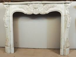 mid 19th century french rococo white carrara marble fireplace