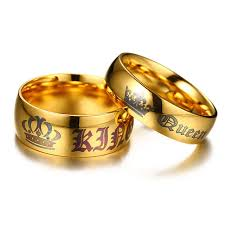 king gold rings images Buy fashion king queen crown charms couple rings jpg