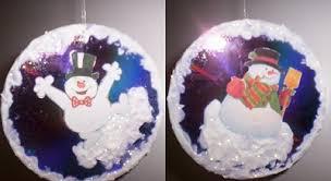snowman cd ornament ornament crafts dot