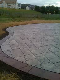 stone texture stamped concrete patio wood stamped concrete
