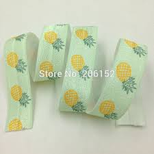 elastic ribbon wholesale 5 8 pineapple print foe elastic wholesale pineapple fold