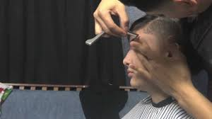 Half Shaved Hairstyles Girls by Taper Fade Haircut Barber Half Shaved Head Cassie Haircutc