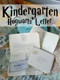 pieces by polly hogwarts letter kindergarten edition harry