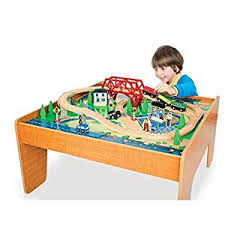 Amazon Com Imaginarium Train Set With Table 55 Piece Toys Games
